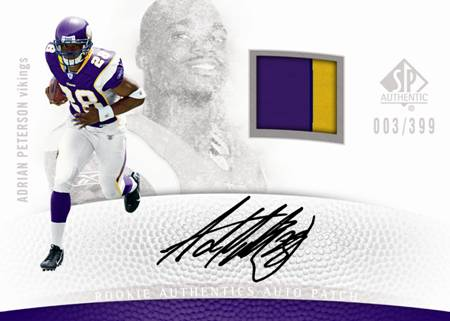 2007 Adrian Peterson SP Authentic RC