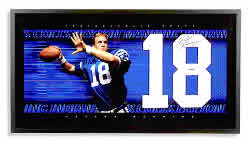 Peyton Manning Autographed Jersey Numbers Piece